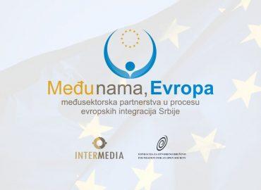 Među nama, Evropa – međusektorska partnerstva u procesu evrointegracija Srbije