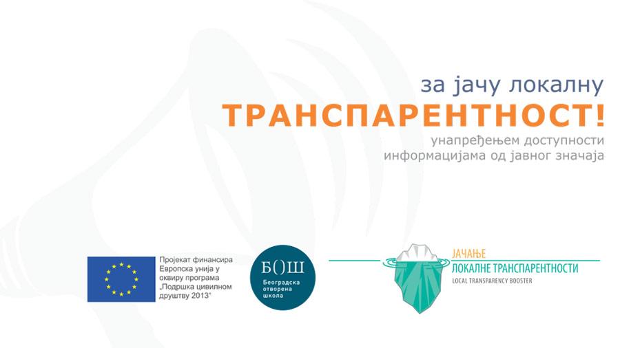 Jačanje lokalne transparentnosti unapređenjem dostupnosti informacijama od javnog značaja